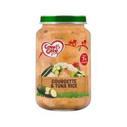 COW&GATE 200G COURGETTE TUNA&RICE 7M PACK6 BFE