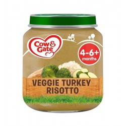 COW&GATE 125G RISOTTO VEG&TURKEY PACK 6