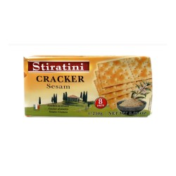 STIRATINI CRACKER SESAMO 250 G PACK 12 U