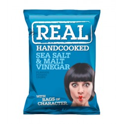REAL 35G SALT & MALT VINEGAR AZUL CJ 24UN