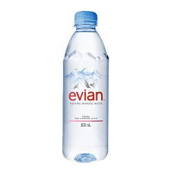 EVIAN 0,50 LT PET CJ 24 UN