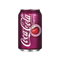 COCA COLA CHERRY LATA 0,33 LT CJ 24UN